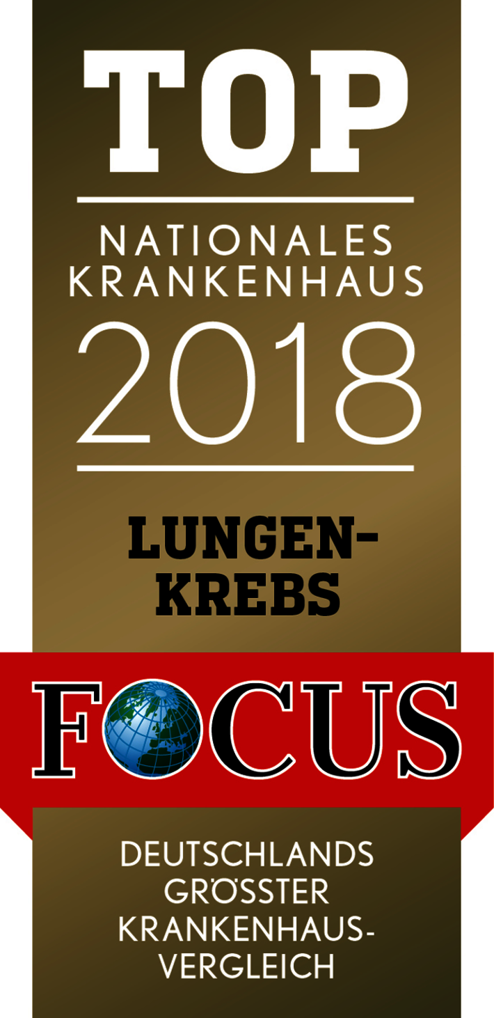 Focus Siegel TOP Nationales Krankenhaus Lungenkrebs 2018