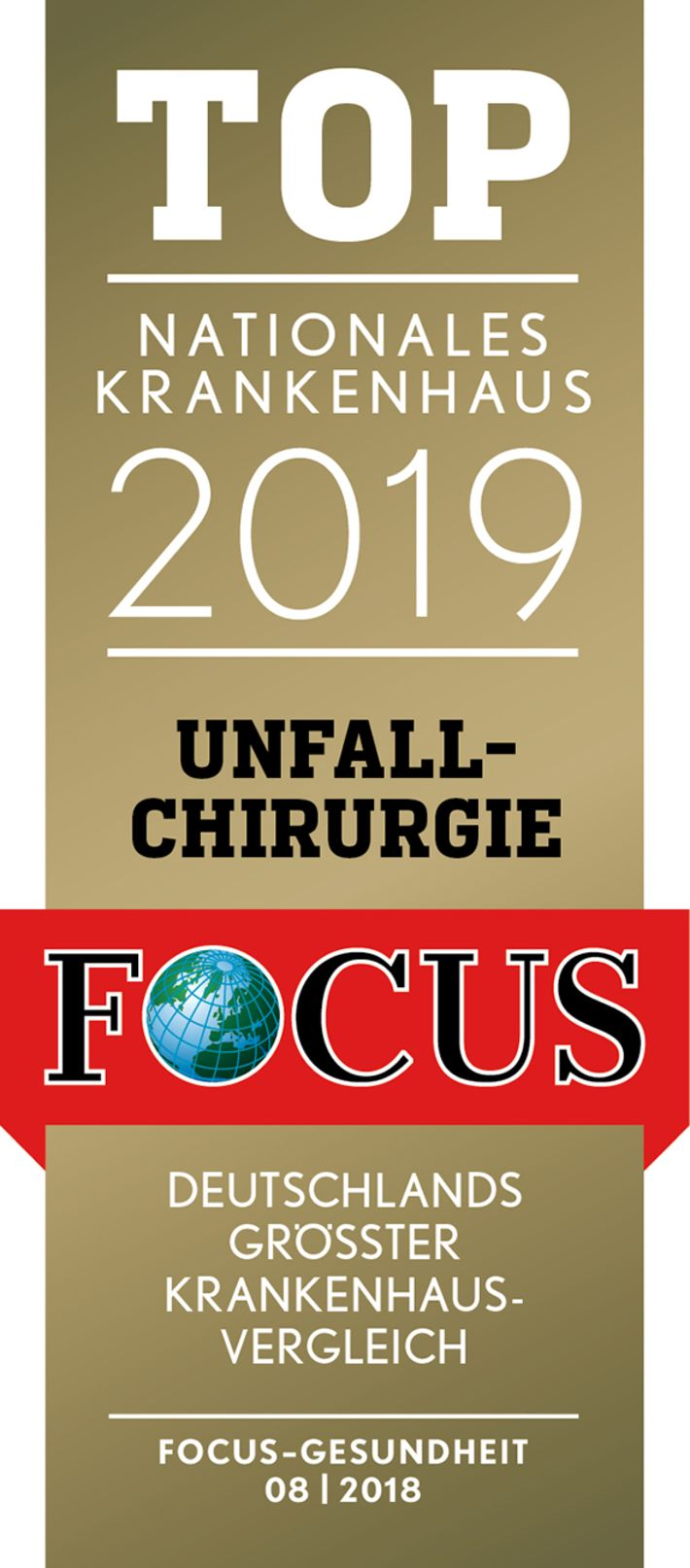 FOCUS - TOP Nationales Krankenhaus 2019 - Unfallchirurgie