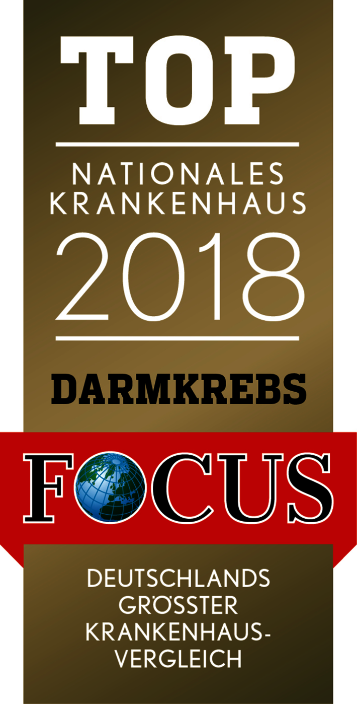 FOCUS Siegel TOP Nationales Krankenhaus Darmkrebs 2018